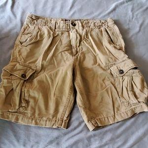 American eagle classics khaki cargo shorts